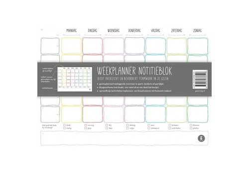 Gezinnig Weekplanner notitieblok