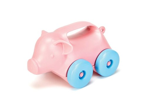 Green Toys Pig on wheels