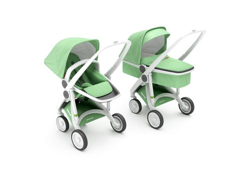 Greentom 2-in-1 Carrycot & Reversible White/Mint