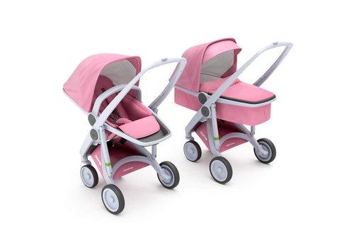 Greentom 2-in-1 Carrycot & Reversible Grey/Pink