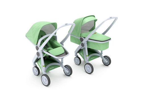 Greentom 2-in-1 Carrycot & Reversible Grey/Mint