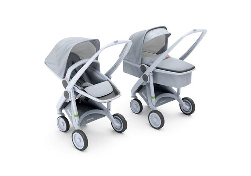 Greentom 2-in-1 Carrycot & Reversible Grey/Grey