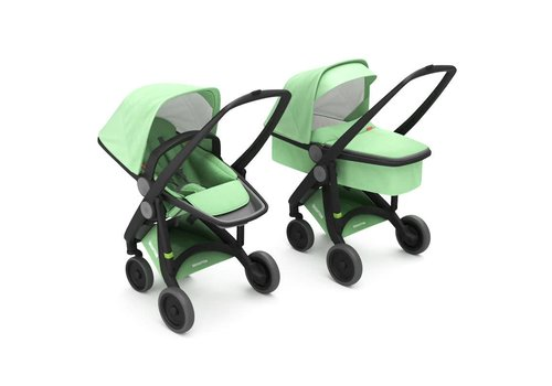 Greentom 2-in-1 Carrycot & Reversible Black/Mint
