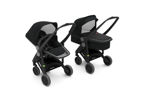 Greentom 2-in-1 Carrycot & Reversible Black/Black