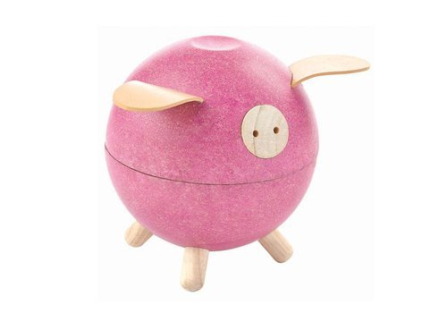 PlanToys Piggy bank pink