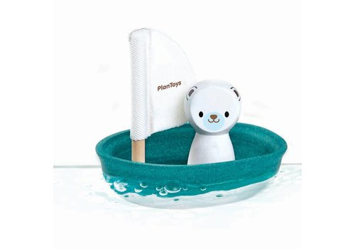 PlanToys Sailing boat polar bear