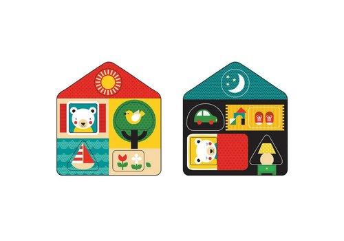 Petit Collage Houten puzzel Dag en Nacht