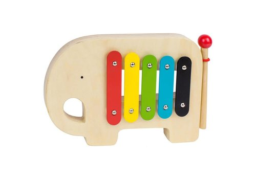 Petit Collage Houten xylofoon Olifant