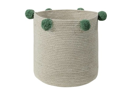 Lorena Canals Basket  Natural 30x30 Green
