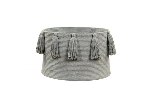 Lorena Canals Basket Tassels 30x45 Light grey