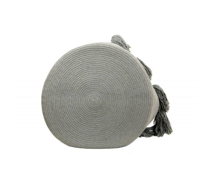 Opbergmand Tassels 30x45 Light grey