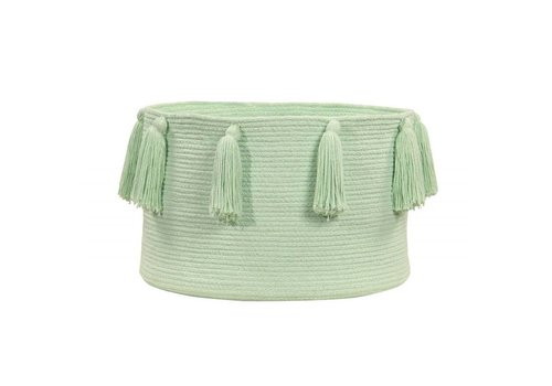 Lorena Canals Basket Tassels 30x45 Soft mint