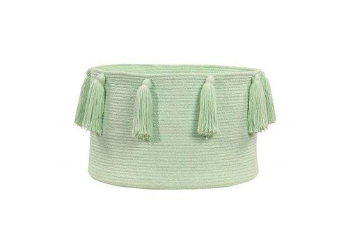 Lorena Canals Opbergmand Tassels 30x45 Soft mint