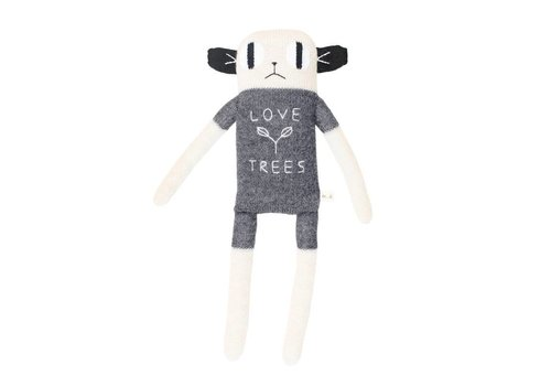 Main Sauvage Big loris soft toy grey