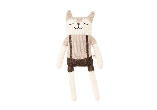 Main Sauvage Fawn soft toy overalls