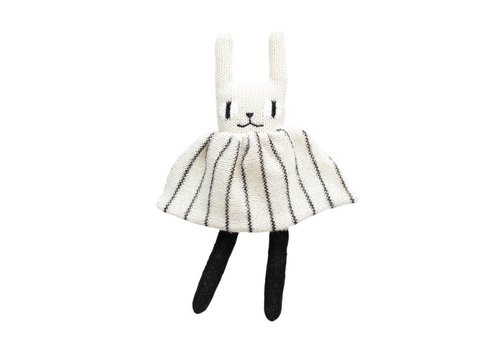 Main Sauvage Rabbit soft toy black & white
