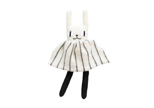 Main Sauvage Rabbit soft toy black & white