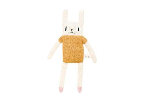Main Sauvage Rabbit soft toy mustard