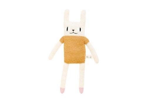 Main Sauvage Rabbit soft toy mustard