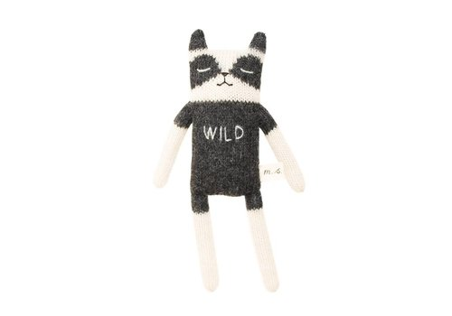 Main Sauvage Raccoon soft toy wild
