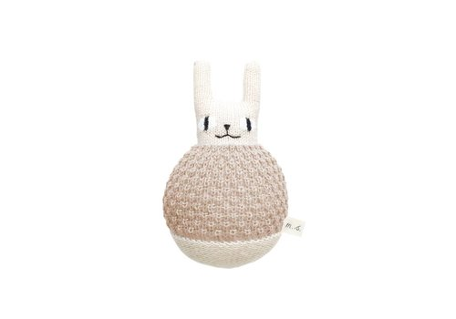 Main Sauvage Roly Poly rabbit soft toy sand