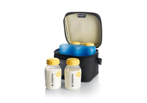Medela Cooler bag with ice pack and 4 bottles