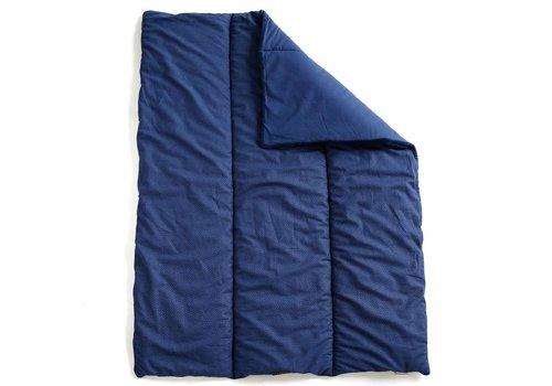 mundo melocotón Quilted blanket / play pen mat 75x95 Indigo