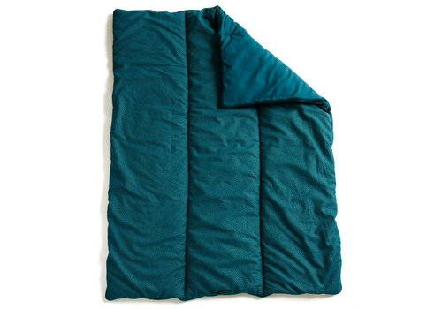 mundo melocotón quilted blanket / play pen mat 75x95 Teal