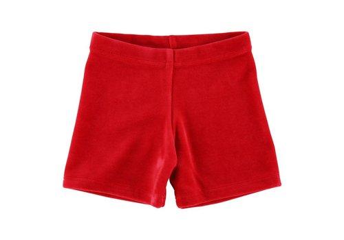 mundo melocotón Short Velvet Red