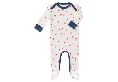 Fresk Pyjama met voet Tulip red