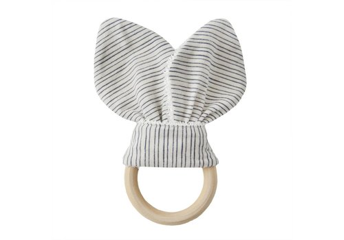 Trixie Teether rabbit Blue ribbon
