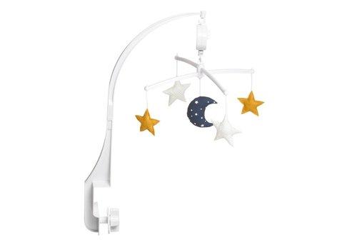 Pouce et Lina Muziekmobiel Moon & Stars navy/ mustard