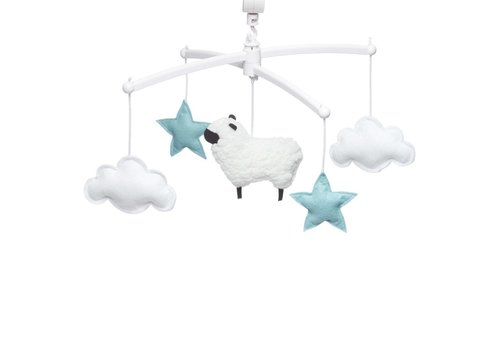 Pouce et Lina Muziekmobiel Sheep blue
