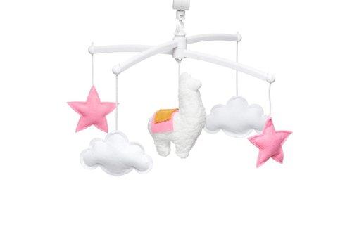 Pouce et Lina Muziekmobiel Llama pink