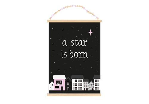 Sparkling Paper Poster A3 A star is born girl