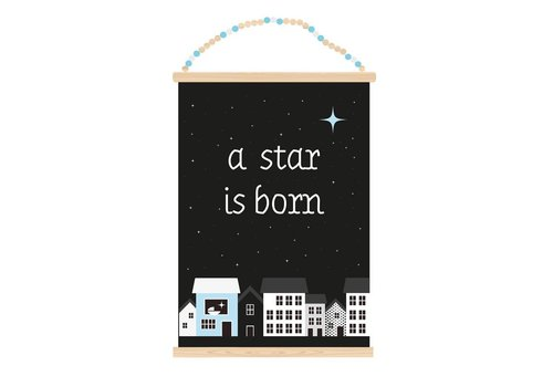 Sparkling Paper Poster A3 A star is born boy