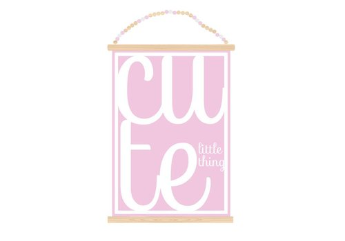 Sparkling Paper Poster A3 Cute little thing pink