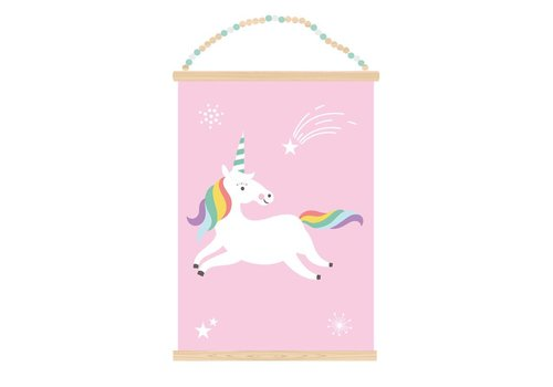 Sparkling Paper Poster A3 Unicorn