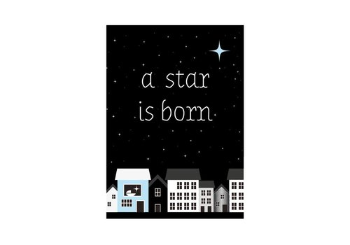 Sparkling Paper Postkaart A star is born