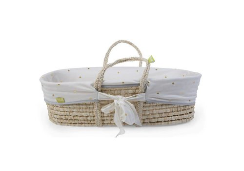 Childhome Moses basket cover jersey gold dots