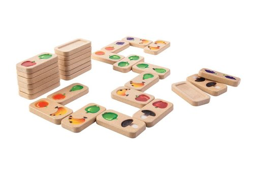 PlanToys Fruit en Groenten Domino