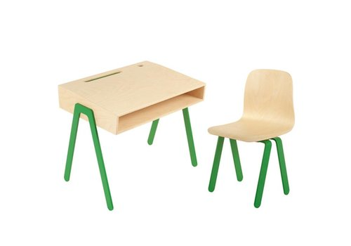 In2wood Desk & chair Small green