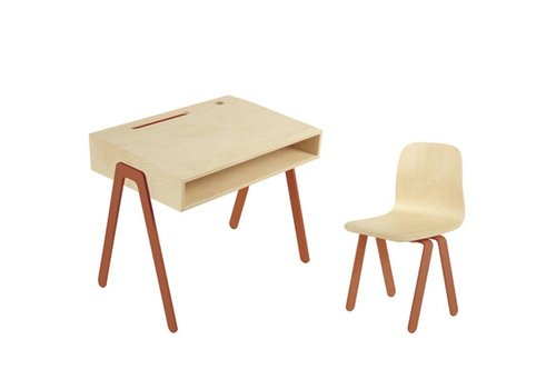 In2wood Desk & chair Small rotorange
