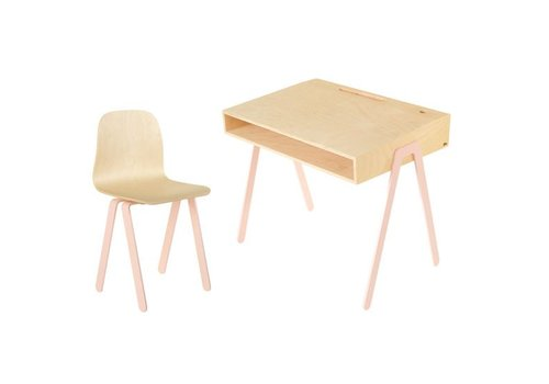 In2wood Desk & chair Large pink