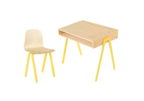 In2wood Desk & chair Large yellow