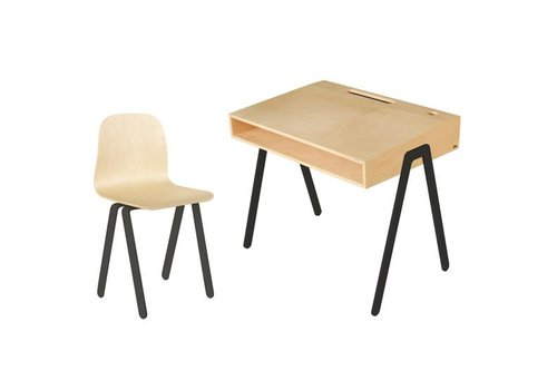 In2wood Desk & chair Large black