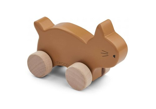 Liewood Elena Wood Toy Cat mustard