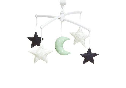 Pouce et Lina Muziekmobiel Moon & Stars mint/ navy
