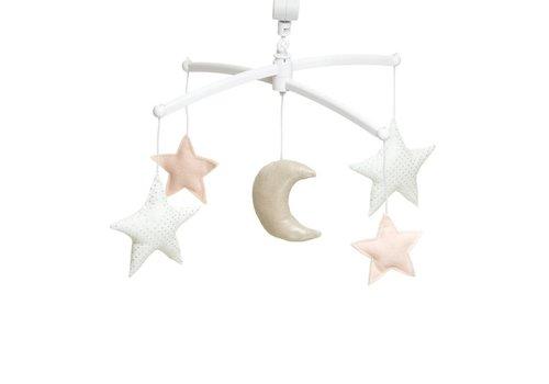 Pouce et Lina Muziekmobiel Moon & Stars nude/ silver