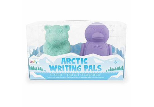 Ooly Arctic writing pals - eraser & sharpener